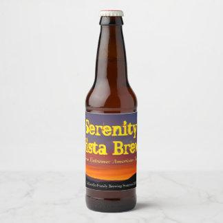 Étiquette de Brew de vue de sérénité