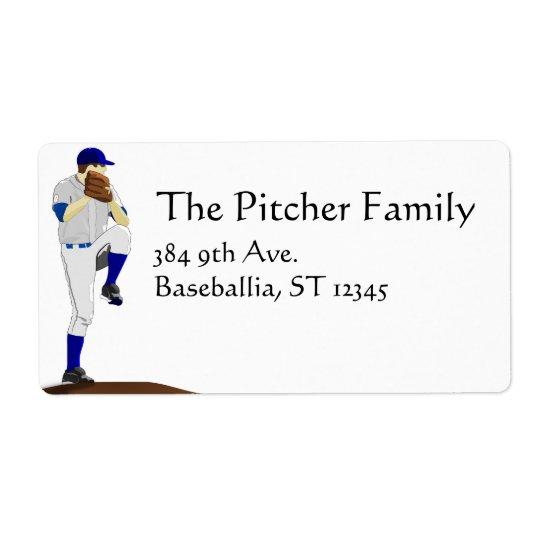 Étiquette de broc de base-ball