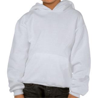 Étiquette de butin (bleue) sweatshirts à capuche