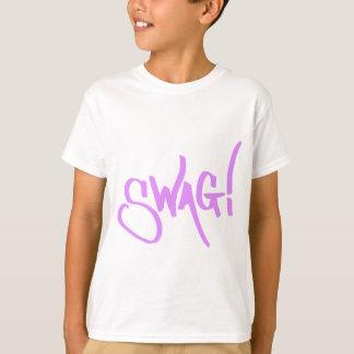 Étiquette de butin - rose t-shirt