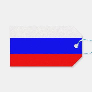 Étiquette de cadeau avec le drapeau de la Russie