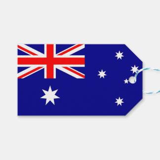Étiquette de cadeau avec le drapeau de l'Australie