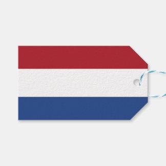 Étiquette de cadeau avec le drapeau de Pays-Bas