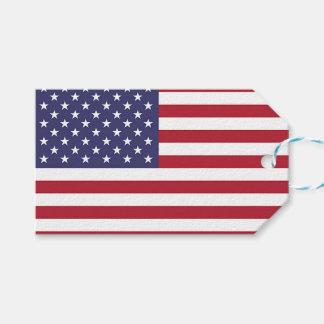 Étiquette de cadeau avec le drapeau des Etats-Unis