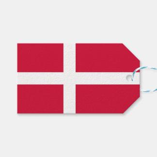 Étiquette de cadeau avec le drapeau du Danemark