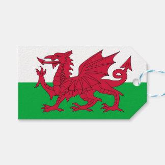 Étiquette de cadeau avec le drapeau du Pays de