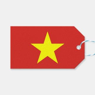Étiquette de cadeau avec le drapeau du Vietnam