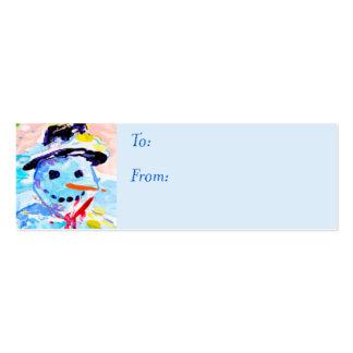 Étiquette de cadeau cartes de visite professionnelles