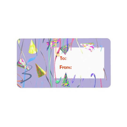 Étiquette de cadeau de chapeaux de partie de joyeu