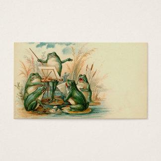 """Étiquette de cadeau """"de choeur de grenouille"""" cartes de visite"""