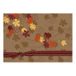 Étiquette de cadeau de feuille d'automne cartes de visite personnelles