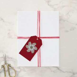 Étiquette de cadeau de fleur d'huître - concevez A