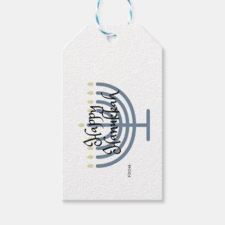 Étiquette de cadeau de Hanoukka