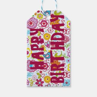 Étiquette de cadeau de joyeux anniversaire