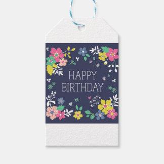 Étiquette de cadeau de joyeux anniversaire de