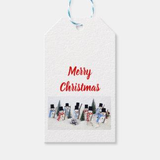 Étiquette de cadeau de la Réunion de Noël de