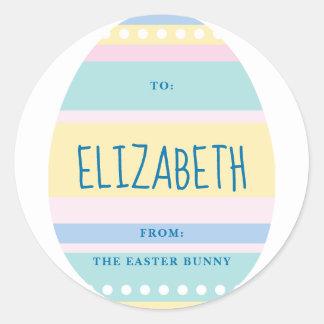 Étiquette de cadeau de lapin de Pâques