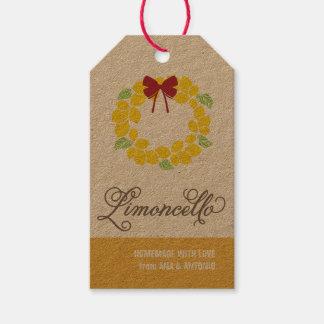 Étiquette de cadeau de Limoncello, étiquette de