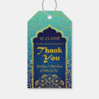 Étiquette de cadeau de Merci de Bollywood de mille