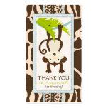 Étiquette de cadeau de Merci de singe de jungle Modèle De Carte De Visite