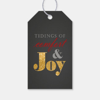 Étiquette de cadeau de Noël de confort et de joie