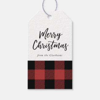 Étiquette de cadeau de Noël de contrôle de Buffalo