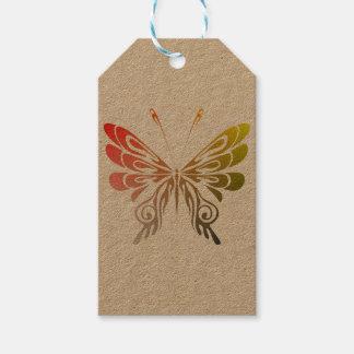 Étiquette de cadeau de papillon