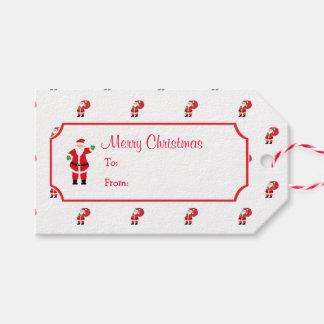 Étiquette de cadeau de Père Noël de Noël