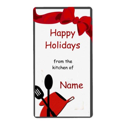 Étiquette de cadeau d'icône d'ustensiles de chef