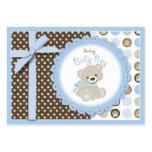 Étiquette de cadeau d'ours de nounours de garçon carte de visite