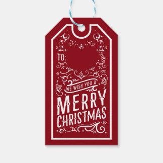 Étiquette de cadeau personnalisée par typographie