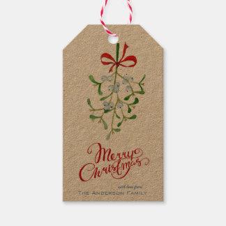 Étiquette de cadeaux de gui (paquet de 10)