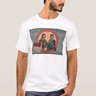 Étiquette de canneberge de marque de Boston T-shirt