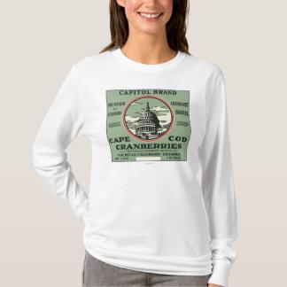 Étiquette de canneberge de marque de capitol de t-shirt