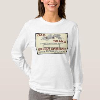 Étiquette de canneberge de marque de chêne t-shirt