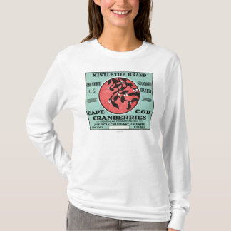 Étiquette de canneberge de marque de gui de Cape T-shirt