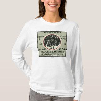 Étiquette de canneberge de marque de puritain de t-shirt