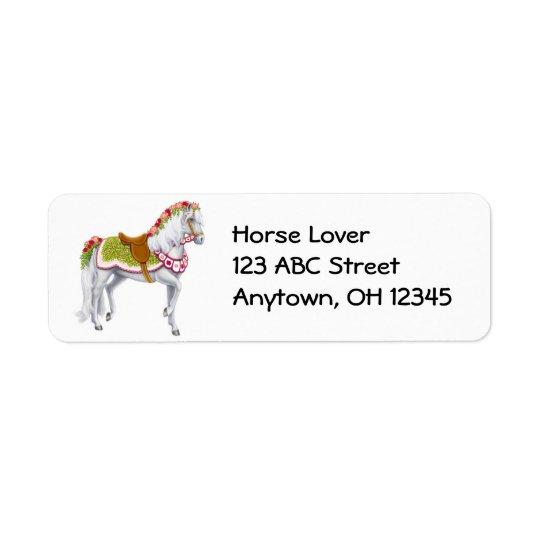 Étiquette de cheval de Rose Parade