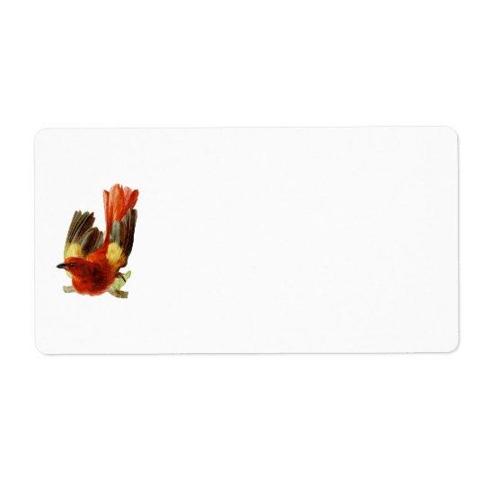 Étiquette de Collection-Nom d'oiseau