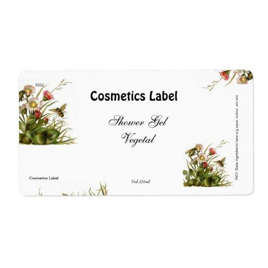 Étiquette de cosmétiques
