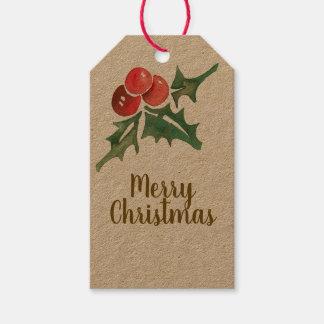 Étiquette de coup de boîte-cadeau de Joyeux Noël
