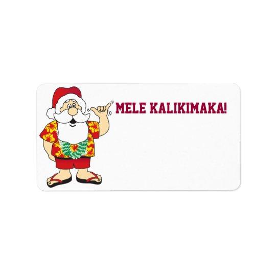 étiquette de ~ de père Noël de shaka