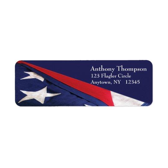 Étiquette de drapeau américain