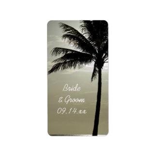 Étiquette de faveur de mariage de plage de