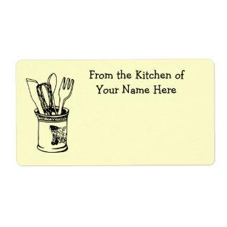 Étiquette De la cuisine de l'étiquette de cuisine de