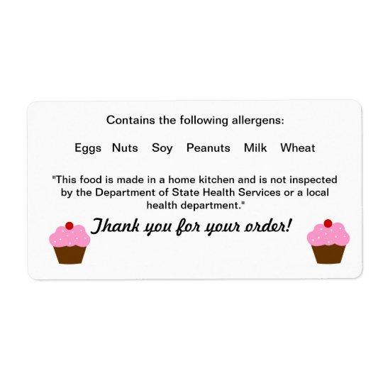 Étiquette de législation alimentaire de cottage du