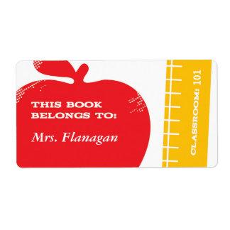 Étiquette de livre de professeur