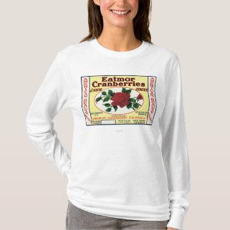 Étiquette de marque américain de canneberges t-shirt