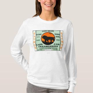 Étiquette de marque de canneberges d'Eatmor de T-shirt