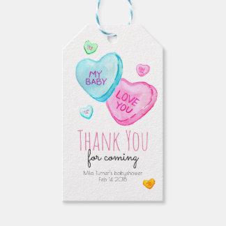 Étiquette de Merci de baby shower de Valentines de